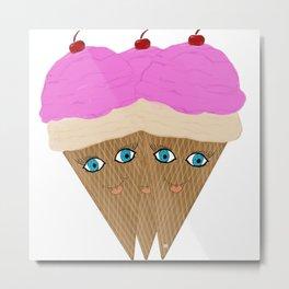 """Ice Cream """"Happy """" Metal Print"""