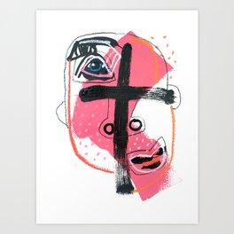 Wry Cross Art Print