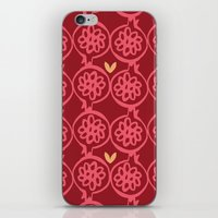 pomegranate iPhone & iPod Skins featuring pomegranate by ottomanbrim