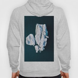 Lone, minimalist Iceberg from above - Landscape Photography Hoody