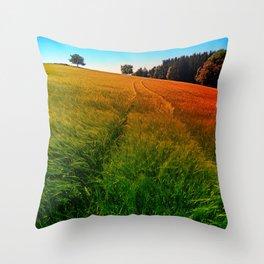 Waving fields of spring Throw Pillow
