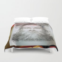 Self-Portrait, Admitted, Crucified at Customs. July 20, 2015 Duvet Cover
