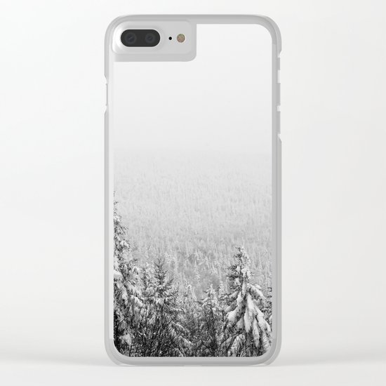 Winter vibes #evergreen #society6 Clear iPhone Case