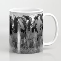 cows Mugs featuring Cows by Julia Lake Art Designs