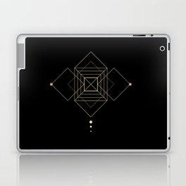 Square Geometry Black Laptop & iPad Skin