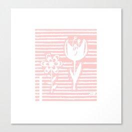 Two little doodle flowers Canvas Print