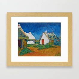 Three White Cottages In Saintes Maries By Vincent van Gogh Framed Art Print