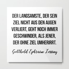Gotthold Ephraim Lessing Metal Print