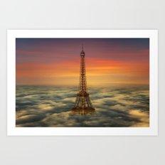 Sous Le Ciel De Paris Art Print