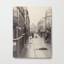 Vintage French Street Metal Print