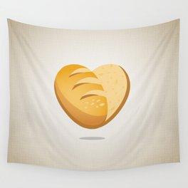 Loving bread Wall Tapestry
