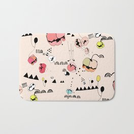 Poppies Print Bath Mat