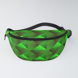 Optical pigtail rhombuses from green squares in the dark. Fanny Pack