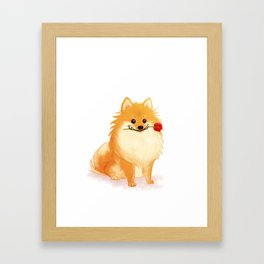 Charming Pomeranian Framed Art Print