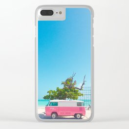 PINK VAN Clear iPhone Case