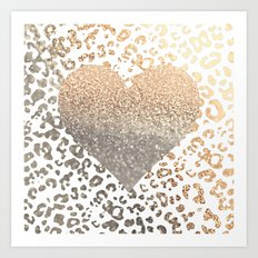 GOLD HEART LEO Art Print