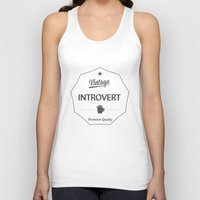 introvert Tank Tops featuring Vintage Introvert by Introvertology
