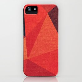 Abstract geometric patter.Triangle background iPhone Case