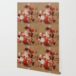 Henri Fantin Latour - Carnations Without Vase Wallpaper