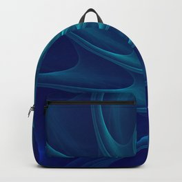 Aqua Blue Nautilus Sea Shell Backpack