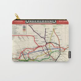 Vintage London Underground Railways Carry-All Pouch