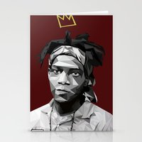 basquiat Stationery Cards featuring Geometric Basquiat by WillisInDesign