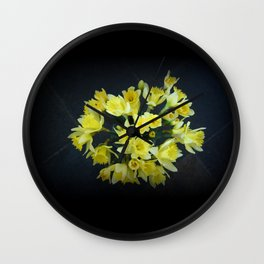 Daffodils Reaching Out Wall Clock