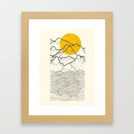 The cliff waves Framed Art Print