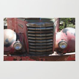 GMC, GMC Truck Grill, Old Truck Rug