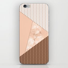 Valencia 2. Abstract Beige, white, brown geometric pattern. iPhone Skin