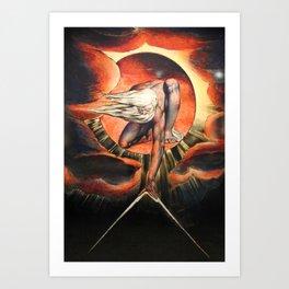 William Blake The Ancient Days Art Print