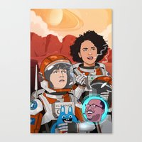 broad city Canvas Prints featuring Broad City by Chris Danger