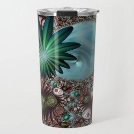 Tropical Trails Fractal Travel Mug