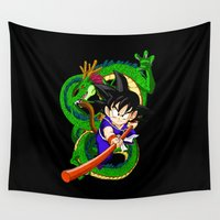 goku Wall Tapestries featuring Little Goku by feimyconcepts05