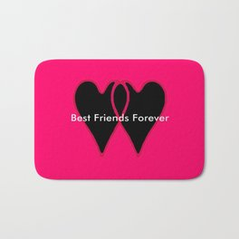 Best Friends Forever jGibney The MUSEUM Gifts society6  Bath Mat
