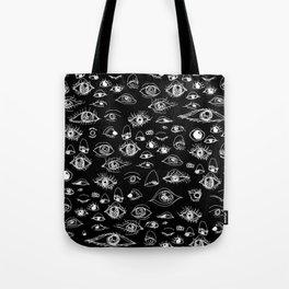 Eyes Up Here Pattern Tote Bag