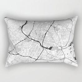 Austin Map Gray Rectangular Pillow