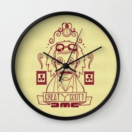Great Scott - Emmet Brown Wall Clock