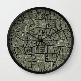 ESHE charcoal mono Wall Clock