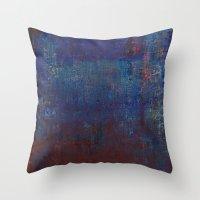calendars Throw Pillows featuring Isaz - Runes Series by Fernando Vieira