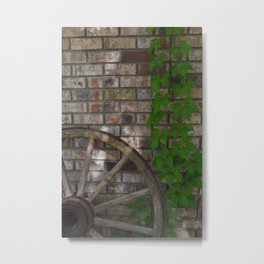 Old Wagon Wheel Metal Print