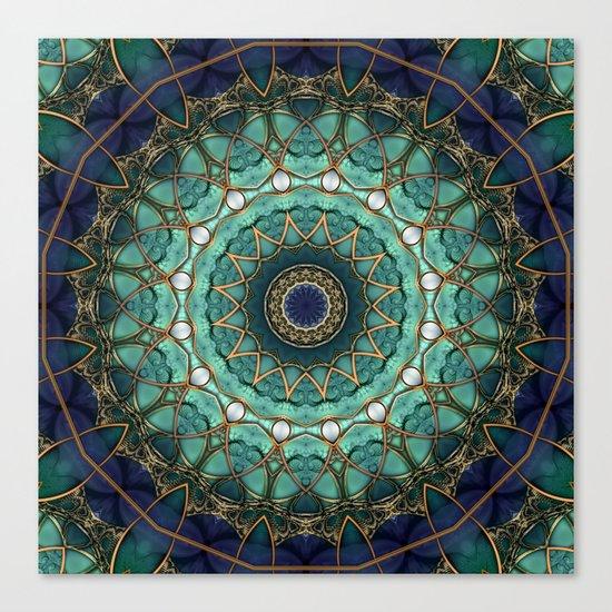 Majestic Topaz Ocean Kaleidoscope Canvas Print