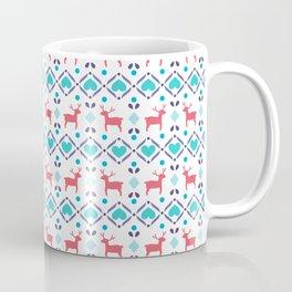 Deers & Hearts Pattern Coffee Mug