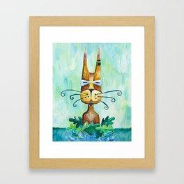 Roofus Whiskers The Cat Framed Art Print