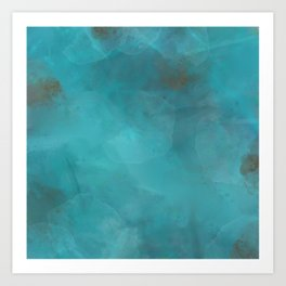 Turquoise Gems Art Print