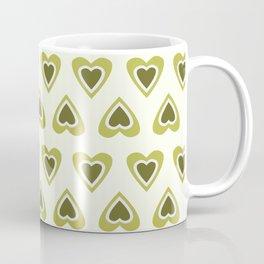 Tiny Love Hearts - Fresh Lime Green  Coffee Mug