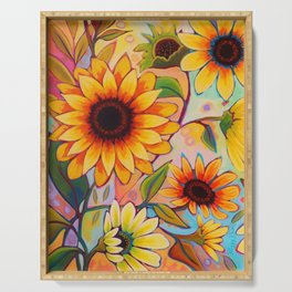 Sunflower Power 1 Serving Tray