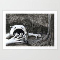 Monster in the Woods Art Print