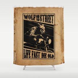 Wolf Rider Shower Curtain