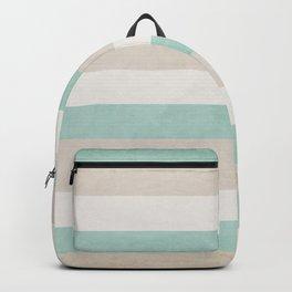 aqua and sand stripes Backpack